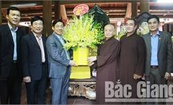 Chủ tịch UBND tỉnh Bắc Giang Dương Văn Thái thăm, chúc Tết các chức sắc tôn giáo