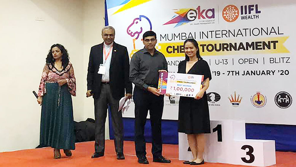 Vietnamese wins women's blitz title at Indian chess tournament