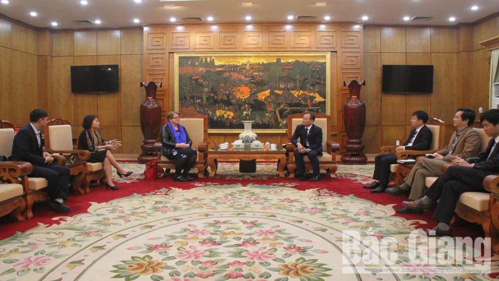 Provincial Permanent Vice Chairman Lai Thanh Son receives representative of YWAM