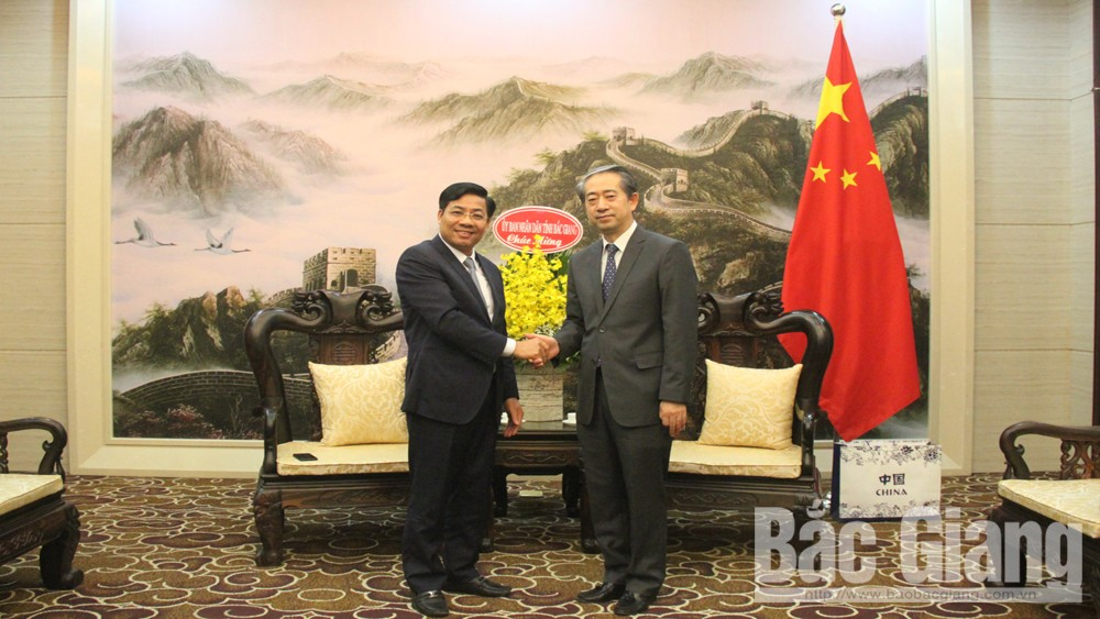 Provincial Chairman Duong Van Thai, Bac Giang province, Tet greetings, Chinese Embassy in Vietnam, cooperative relations, investment projects