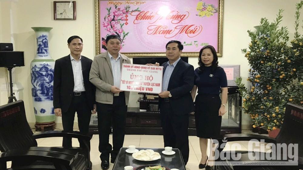 tặng quà, hộ nghèo, hộ có hoàn cảnh khó khăn, Lục Nam, TP Bắc Giang, Leo Thị Lịch, Bắc Giang.