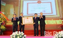 Huyện Lạng Giang đón bằng công nhận đạt chuẩn nông thôn mới và Huân chương Lao động hạng Ba
