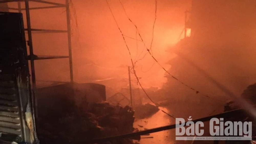 Cháy cửa hàng, Phòng Cảnh sát phòng cháy, chữa cháy và cứu nạn cứu hộ, Công an tỉnh Bắc Giang