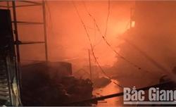 Bắc Giang: Cháy tại cửa hàng tạp hóa, nhiều hàng hóa bán dịp Tết bị hư hỏng