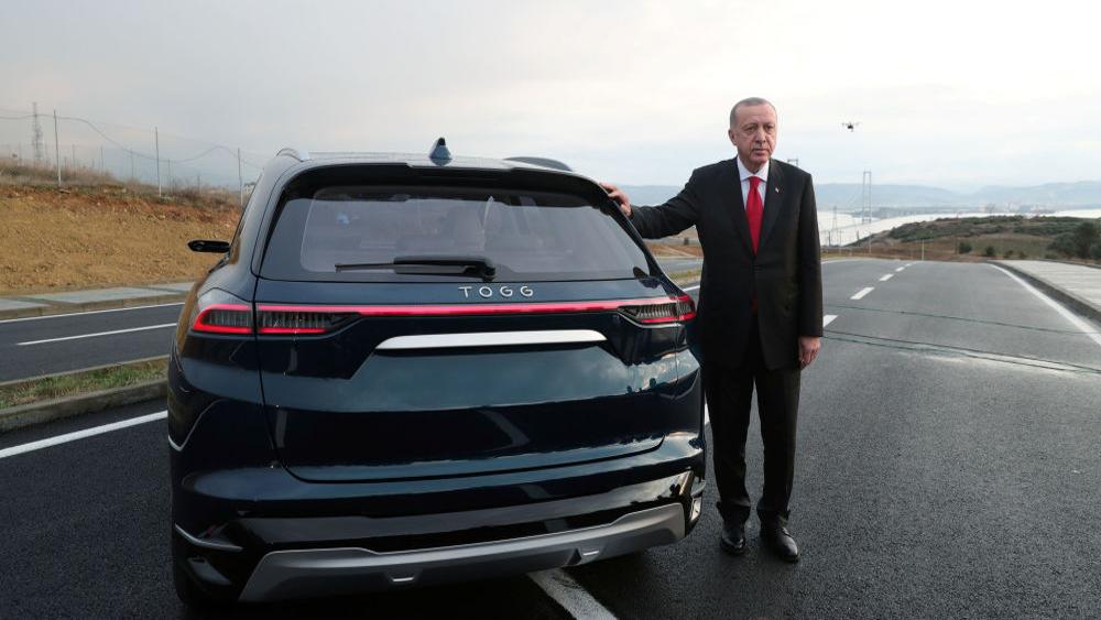 rdogan lái thử ô tô, ô ô tô điện, Thổ Nhĩ Kỳ, xe điện TOGG
