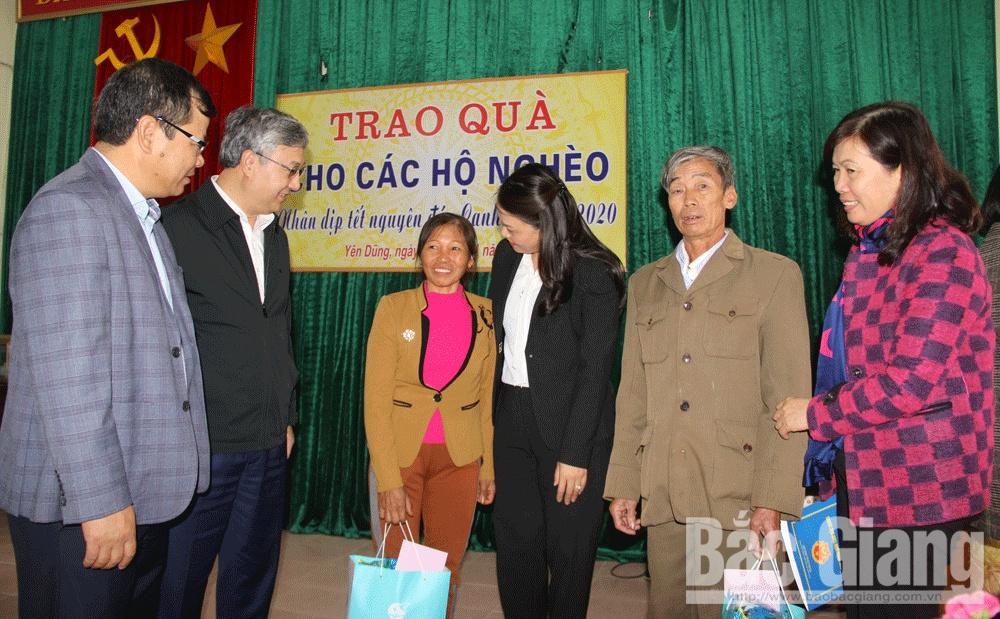 Đoàn Đại biểu Quốc hội tỉnh Bắc Giang, Nguyễn Thị Thu Hà, Trần Văn Lâm, Yên Dũng, tặng quà tết, Canh Tý