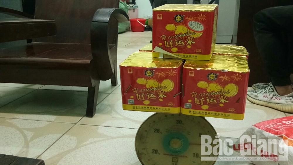 pháo nổ; Công an huyện Tân Yên