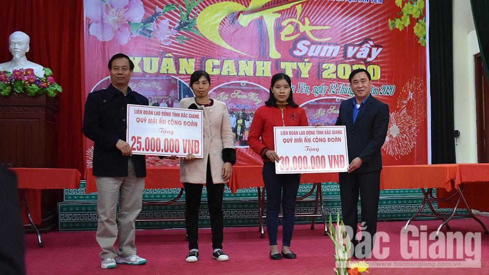 Tân Yên, Tết sum vầy, xuân Canh Tý 2020, công nhân, liên đoàn lao động