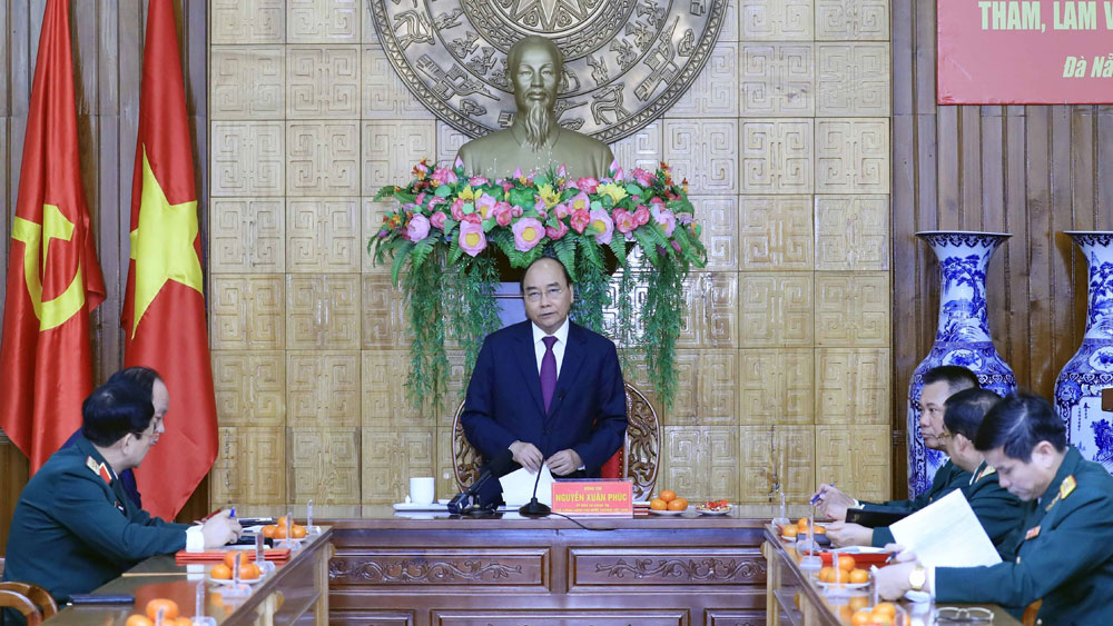Thủ tướng Nguyễn Xuân Phúc, kiểm tra, công tác ứng trực sẵn sàng, chiến đấu, Quân khu 5