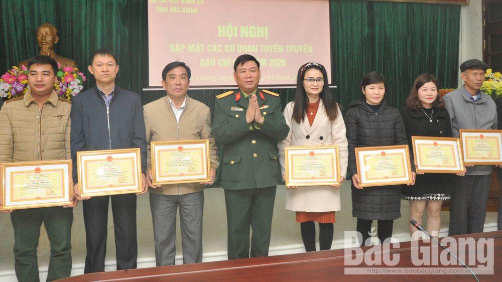 báo chí, Bộ CHQS tỉnh, đầu xuân, Bắc Giang