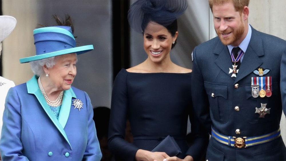 Nữ hoàng Anh, ủng hộ, vợ chồng Hoàng tử Harry, cuộc sống mới