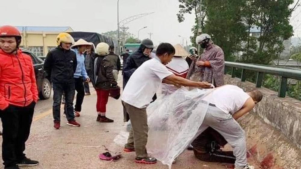 Truy tìm, đối tượng, người phụ nữ chở con nhỏ trên cầu, chị Trần Thị Huyền, La Đình Hợi