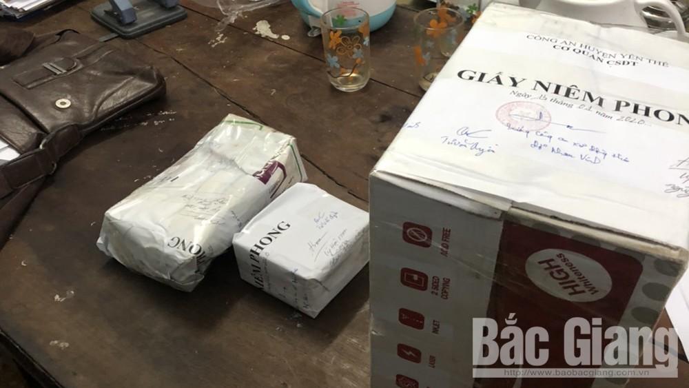 Ma túy, tàng trữ trái phép pháo nổ, Công an huyện Yên Thế; Bắc Giang
