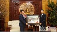 Bí thư Tỉnh ủy Bùi Văn Hải tiếp ông Lý Xương Căn - Đại sứ Du lịch Việt Nam