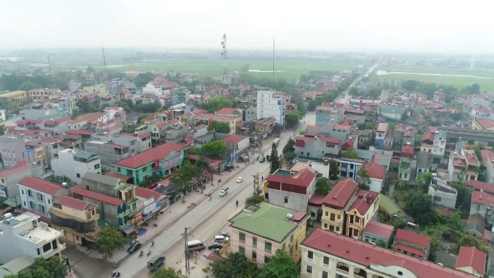 Viet Yen district, fourth-tier city, urban development, municipal township, administrative reform, technical infrastructure,  urban space expansion