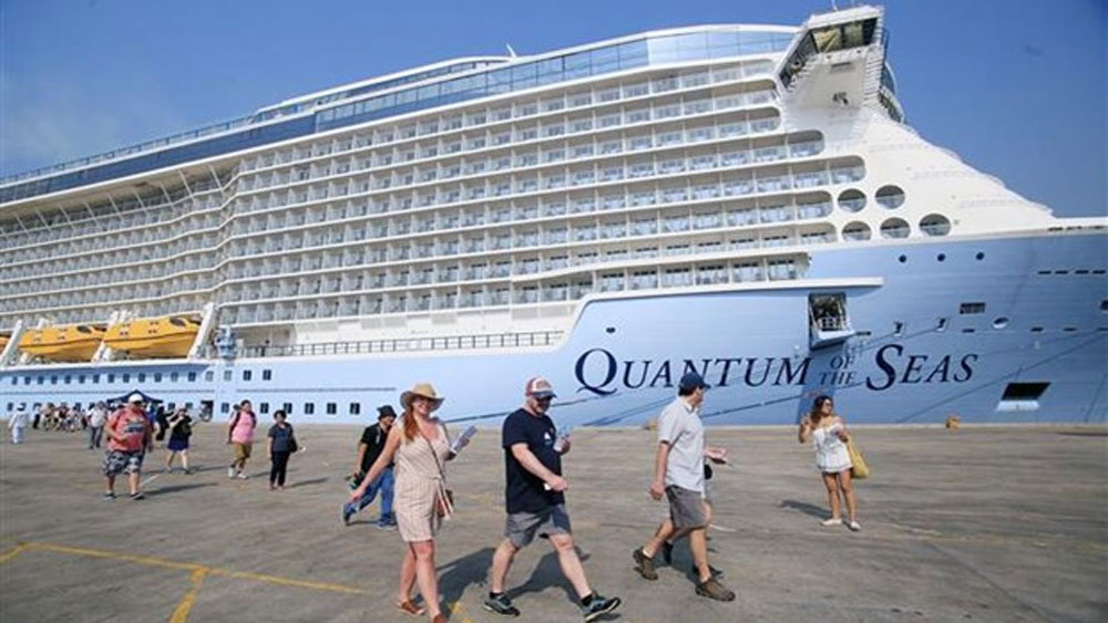 World, most modern cruise ship, HCM City, five-star cruise ship, Quantum of the Seas, international cruise ships