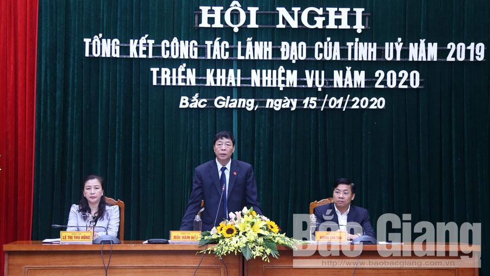 Triển khai nhiệm vụ năm 2020, Bí thư Tỉnh ủy Bùi Văn Hải: Tập trung lãnh đạo tổ chức thành công Đại hội Đảng các cấp
