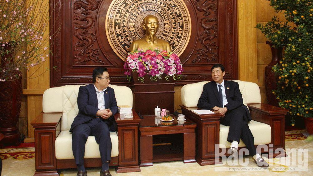PPC's Secretary Bui Van Hai, Bac Giang province, Vietnam's tourism ambassador, Ly Xuong Can, Lee Chang Kun,  good traditional diplomatic relation