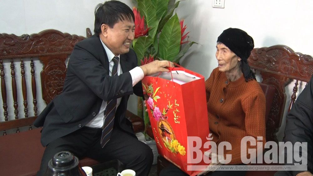Chủ tịch UBND huyện Lục Nam, Đặng Văn Nhàn, thăm, chúc Tết, gia đình chính sách, Bắc Giang.