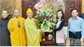 Ban Trị sự Giáo hội Phật giáo tỉnh và Giáo hạt Bắc Giang chúc Tết Tỉnh ủy