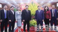 Lãnh đạo tỉnh Bắc Giang chúc Tết Đảng bộ, chính quyền và nhân dân tỉnh Bắc Ninh
