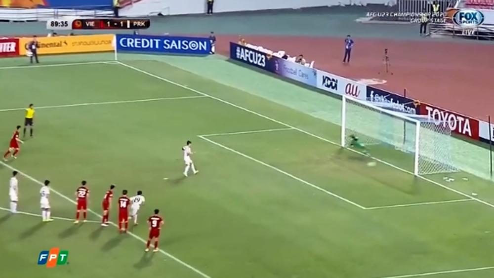 Clip: Bàn nâng tỷ số lên 2-1 cho U23 Triều Tiên