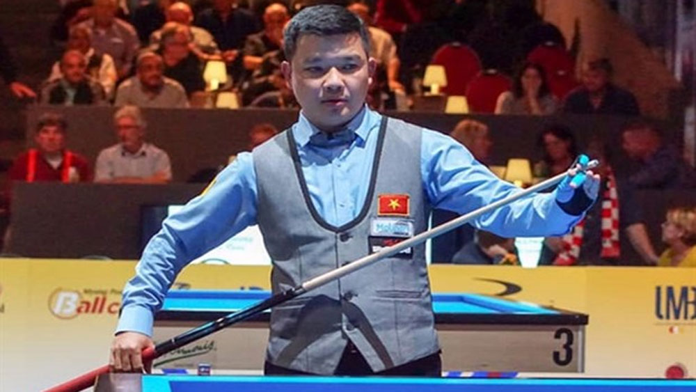 Vietnam, invitational 3-Cushion, Survival Masters, Vietnamese billiards player, Nguyen Duc Anh Chien,  world's best players