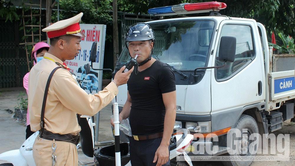 nồng độ cồn, Nghị định 100, Bắc Giang