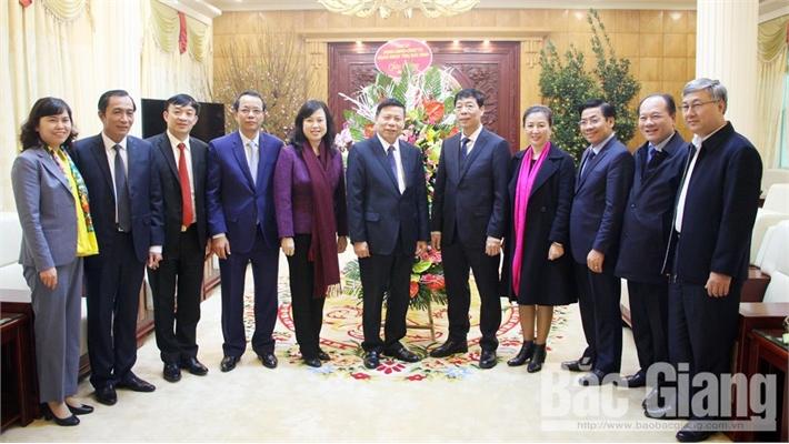 Đoàn đại biểu tỉnh Bắc Ninh thăm, chúc Tết tỉnh Bắc Giang