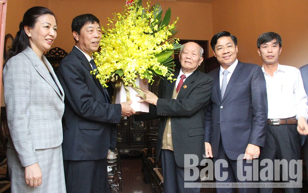 Bac Giang province, provincial leaders, pre-Tet visits, Bac Ninh province, traditional Lunar New Year, socio-economic development