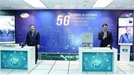 """Hai Bộ trưởng gọi thử 5G trên thiết bị """"made in Vietnam"""""""