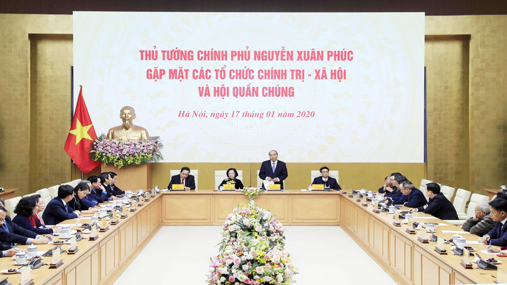 Thủ tướng Nguyễn Xuân Phúc, gặp mặt, đại diện, các tổ chức chính trị - xã hội, hội quần chúng
