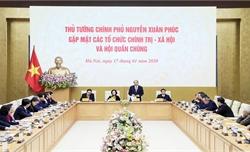 Thủ tướng Nguyễn Xuân Phúc gặp mặt đại diện các tổ chức chính trị - xã hội và hội quần chúng