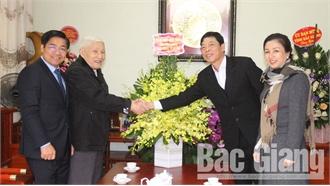 Thường trực Tỉnh ủy Bắc Giang chúc Tết đồng chí Nguyễn Thanh Quất