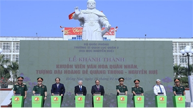 Thủ tướng Nguyễn Xuân Phúc thăm và làm việc tại Trường Sĩ quan lục quân 2