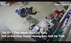 Nhân viên cây xăng quật ngã tên cướp