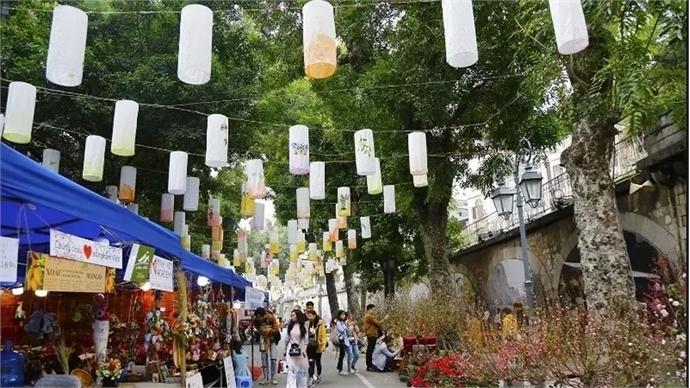 Spring on Hanoi's street