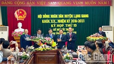 HĐND huyện Lạng Giang bầu bổ sung chức danh Phó Chủ tịch UBND huyện