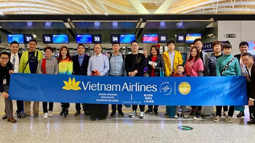 Vietnam Airlines, Da Nang-Shanghai route, non-stop route,  four-star services, most livable city, round-trip airfare, excellent tourism products