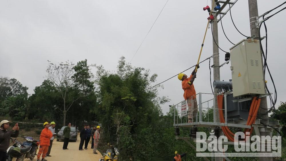 Yên Thế, Đóng điện,  trạm biến áp, trước Tết Nguyên đán Canh Tý 2020, Bắc Giang