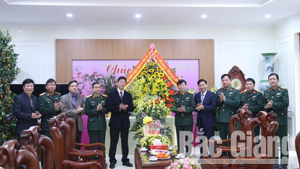 Bí thư Tỉnh ủy, Bùi Văn Hải, chúc Tết, Công an tỉnh, Bộ CHQS tỉnh.