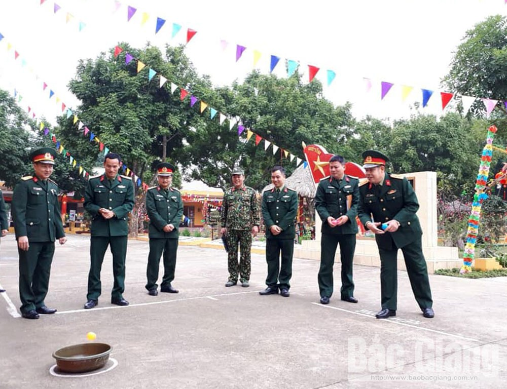 đơn vị quân đội, đón xuân, Canh Tý 2020, bộ đội đón xuân, Bắc Giang