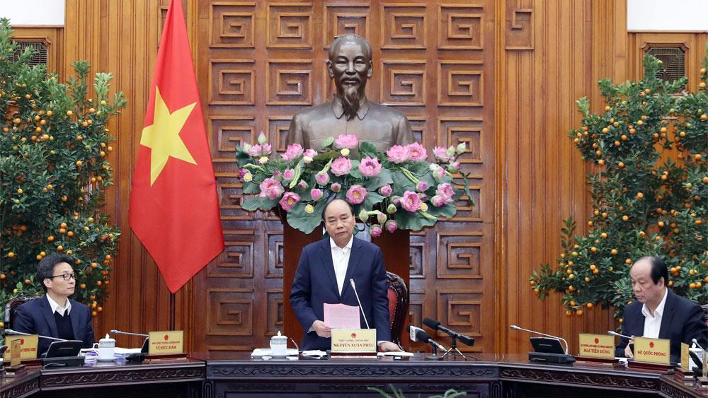 Thủ tướng Nguyễn Xuân Phúc, chủ trì , cuộc họp phòng, chống dịch bệnh, vi rút Corona , gây ra