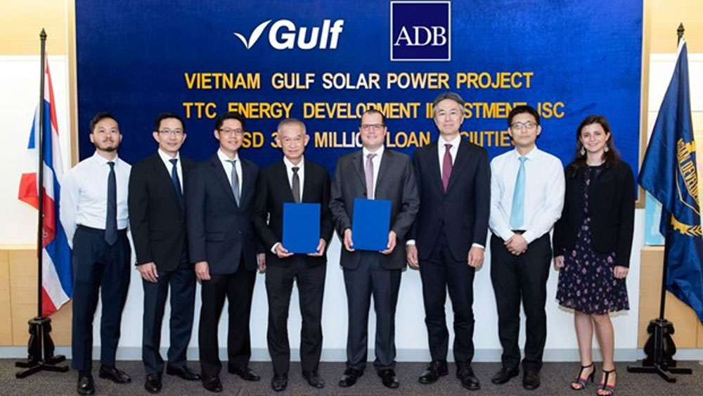 ADB, 50MW solar power plant, Tay Ninh province, Asian Development Bank, renewable energy sources, greenhouse gas emissions