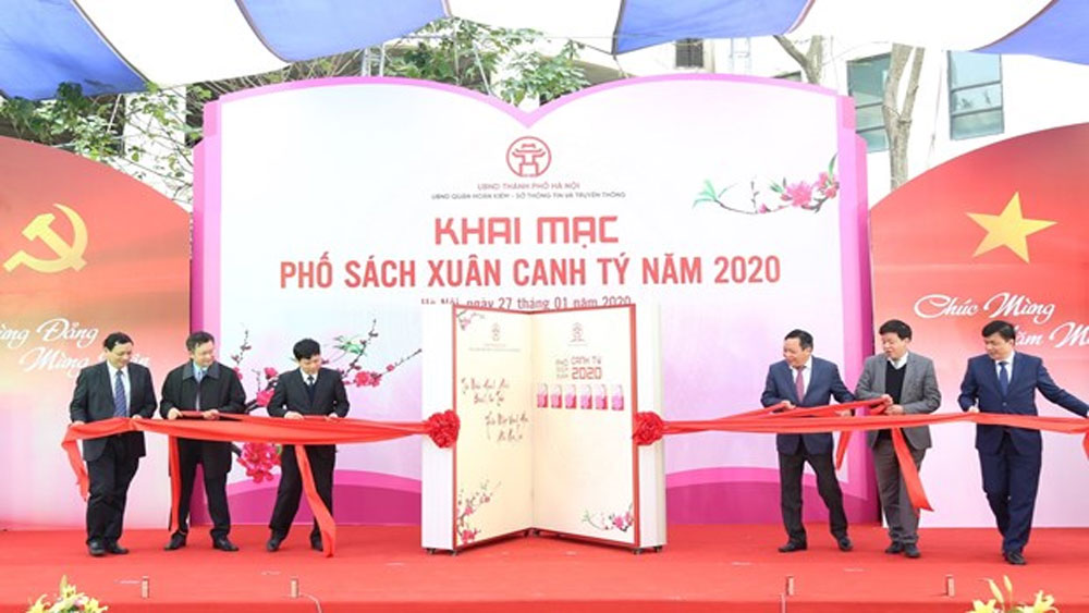 Hanoi, 2020 Spring Book Street, 90th founding anniversary, Tet newspapers, calligraphic works, folk paintings, traditional dish