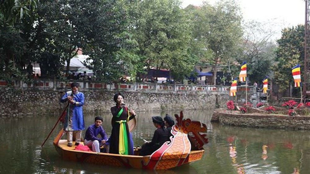 Spring festival, Bac Ninh province, Phat Tich pagoda, rituals praying for peace, cultural and art activities, folk games