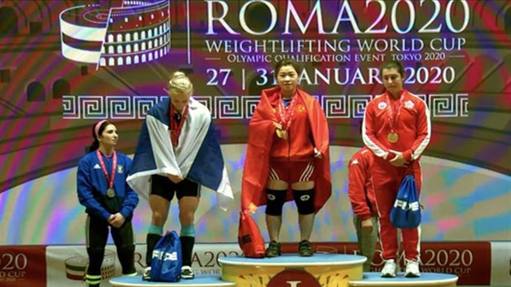 Weightlifters on way to berths at Tokyo Olympic Games