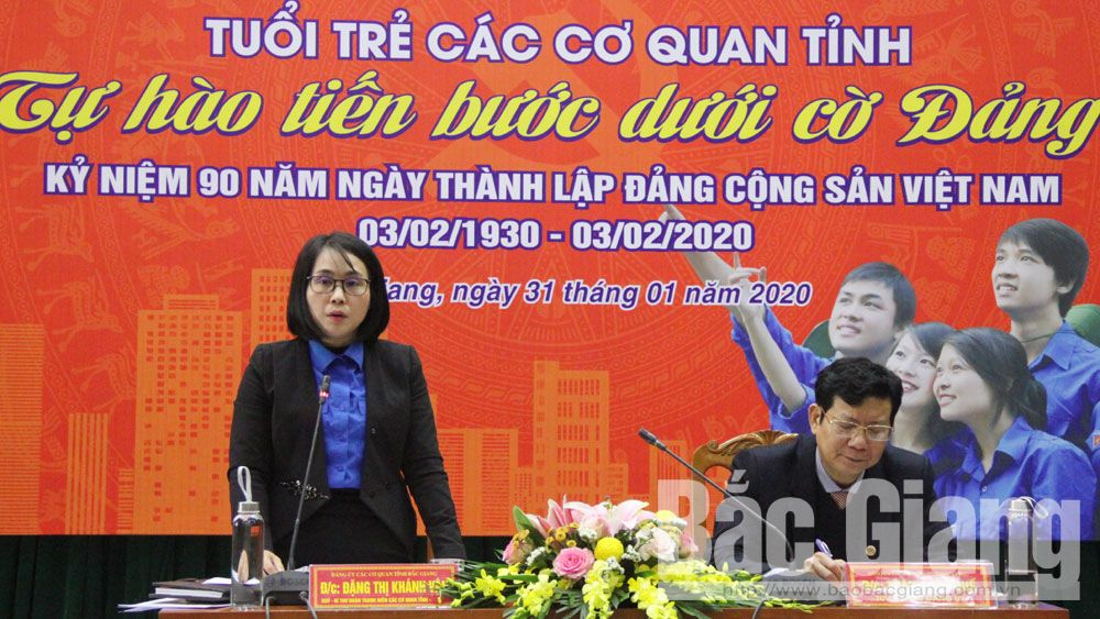 Tuổi trẻ các cơ quan tỉnh Bắc Giang tự hào tiến bước dưới cờ Đảng