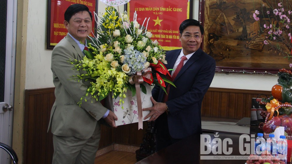 Bac  Giang provincial Chairman, production encouragement, first working day, Lunar New Year, Bac Giang province, Duong Van Thai