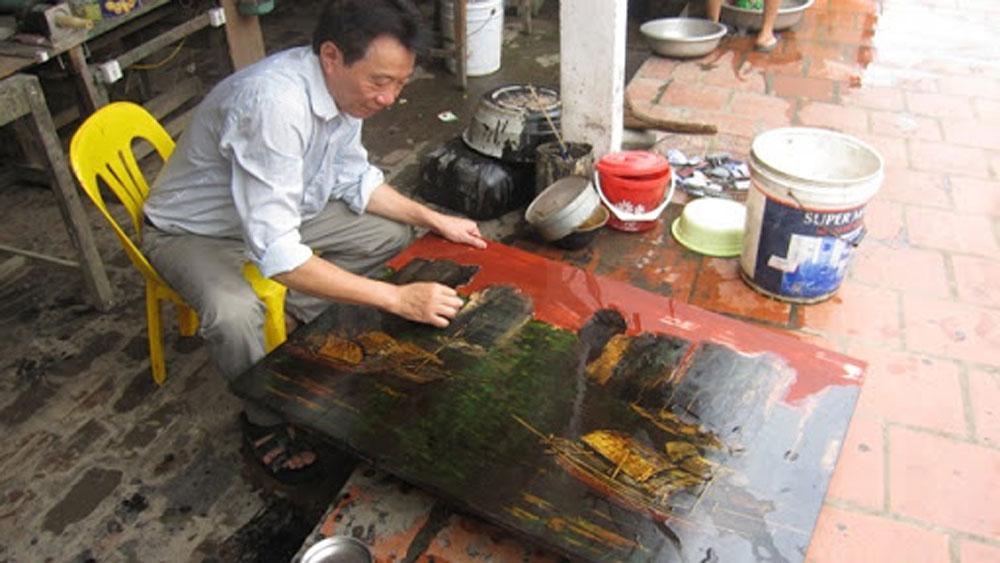 Formation, development,  Ha Thai, lacquerware craft village, new vitality, contingent of craftsmen, polishing technique, new colour materials